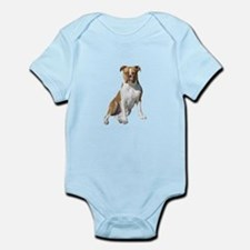 Am Bulldog 2 (Brn-W) Onesie