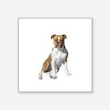 "Am Bulldog 2 (Brn-W) Square Sticker 3"" x 3"""