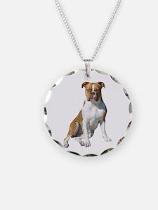 Am Bulldog 2 (Brn-W) Necklace
