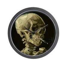 Skull of a Skeleton with Burning Cigarette Wall Cl