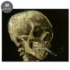 Skull of a Skeleton with Burning Cigarette Puzzle