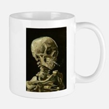 Skull of a Skeleton with Burning Cigarette Mugs