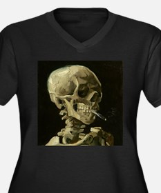 Skull of a Skeleton with Burning Cigarette Plus Si