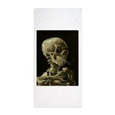 Skull of a Skeleton with Burning Cigarette Beach T