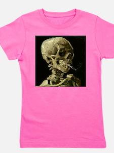 Skull of a Skeleton with Burning Cigarette Girl's