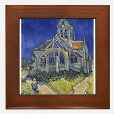 The Church at Auvers Framed Tile