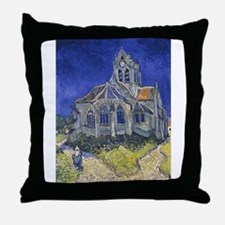 The Church at Auvers Throw Pillow