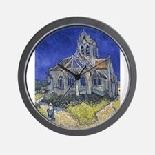 The Church at Auvers Wall Clock