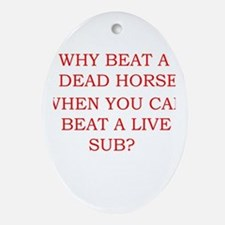 Dead Horse Oval Ornament