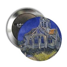 "The Church at Auvers 2.25"" Button"