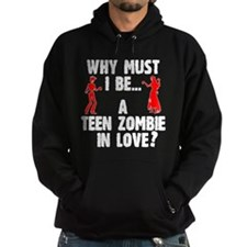 Teen Zombie In Love Hoodie (Dark) Hoodie (Dark)