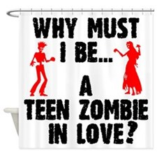 Teen Zombie In Love Shower Curtain