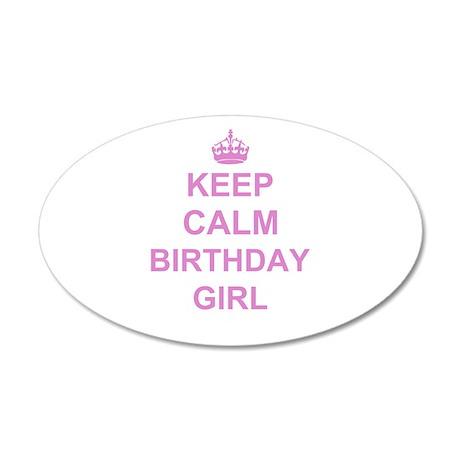 Keep Calm Birthday Girl Wall Sticker