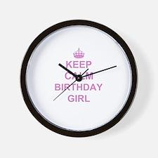 Keep Calm Birthday Girl Wall Clock