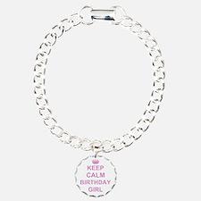 Keep Calm Birthday Girl Bracelet