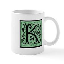 Green Fleur Monogram K Mug