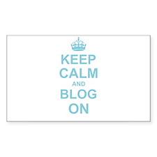 Keep Calm and Blog on Decal
