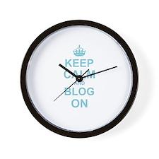 Keep Calm and Blog on Wall Clock