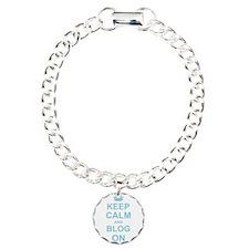 Keep Calm and Blog on Bracelet
