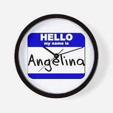 hello my name is angelina  Wall Clock