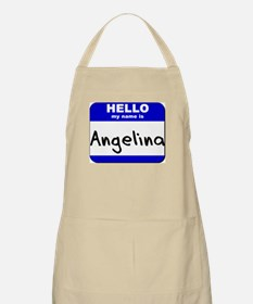 hello my name is angelina  BBQ Apron