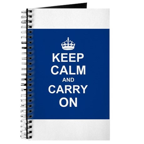 Keep Calm and Carry On - navy blue Journal