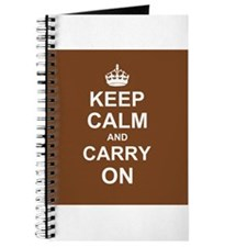 Keep Calm and Carry On - brown Journal
