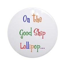 on the lollipop Ornament (Round)