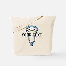 Lacrosse Personalize Head CBlue Tote Bag