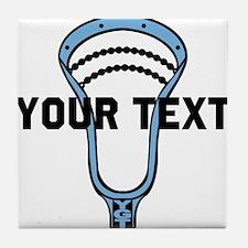 Lacrosse Personalize Head CBlue Tile Coaster