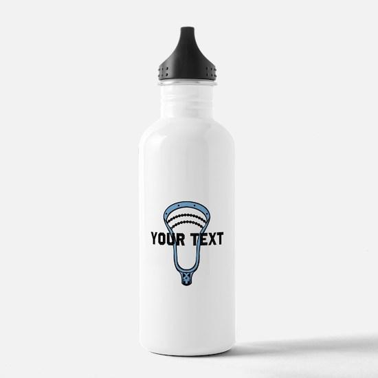 Lacrosse Personalize Head CBlue Water Bottle