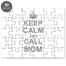 Keep Calm and Call Mom Puzzle