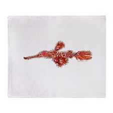 Harlequin Ghost Pipefish Throw Blanket