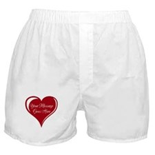 Your Custom Message in a Heart Boxer Shorts