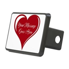 Your Custom Message in a Heart Hitch Cover