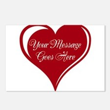 Your Custom Message in a Heart Postcards (Package