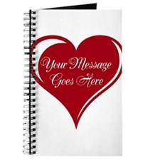 Your Custom Message in a Heart Journal