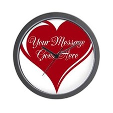 Your Custom Message in a Heart Wall Clock