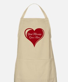 Your Custom Message in a Heart Apron
