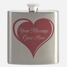 Your Custom Message in a Heart Flask
