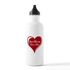 Your Custom Message in a Heart Water Bottle