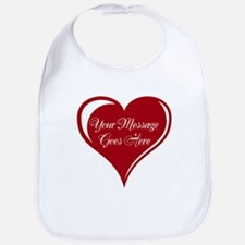 Your Custom Message in a Heart Bib