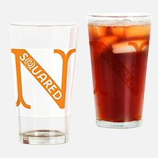 Nsquared Logo - Orange Drinking Glass