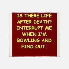 bowling Throw Blanket