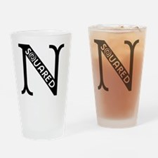 Nsquared Logo - Black Drinking Glass