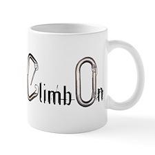 Climb On carabiners Mug