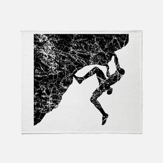 Climber Overhang Throw Blanket