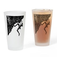 Female Climber Overhang Drinking Glass