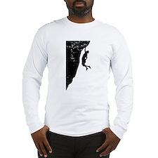 Rock Climber Cliff Hanger Long Sleeve T-Shirt