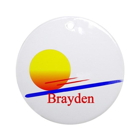 Brayden Ornament (Round)
